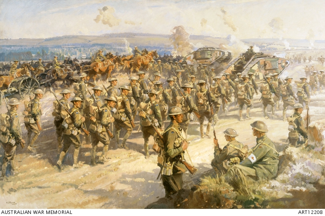 The Battle of Amiens - August 1918 by Septimus Power - Australian War Memorial - ART12208
